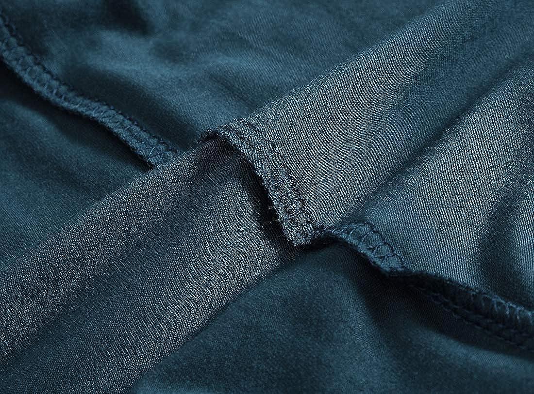 JINSHI Schlafanzughosen Modal Kurz Pyjamahose Nachtw/äsche Schlafshorts f/ür Herren