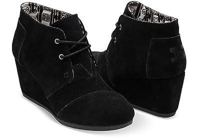 1cc657103d725 TOMS Desert Wedge Boot - Women's (12 B(M) US / 42-43 EUR, (Black-Suede))