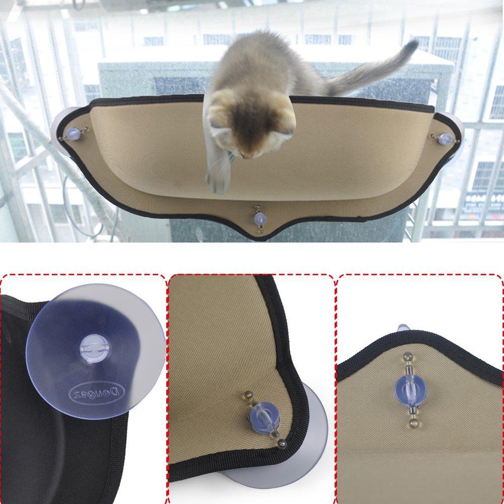 Chat Hamac Lit, chat Perchoir Coussin fenêtre à suspendre pour chat avec ventouses Logicstring