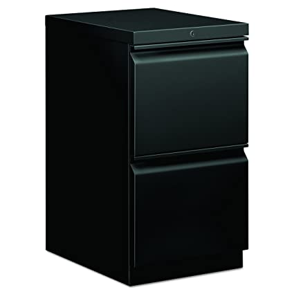 HON Mobile Pedestal File, Storage Pedestal With 2 File Drawers, 15u0026quot; D,