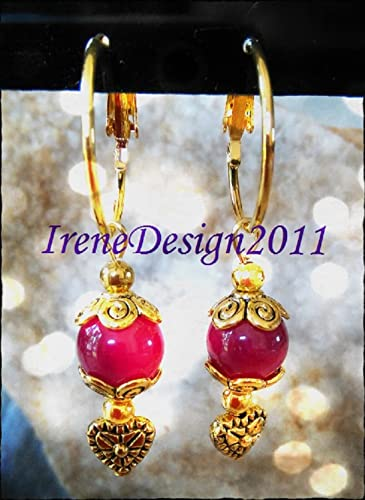 Pink Alexandrite & Heart Earrings