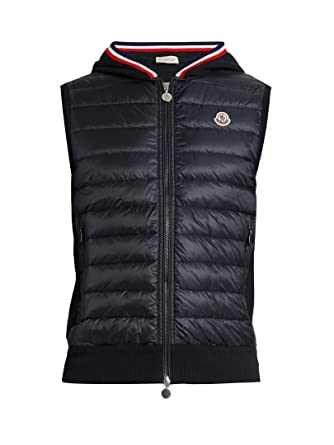849115f9cec4b Moncler Gilet - Mens Maglia Gilet in Navy  Amazon.co.uk  Clothing