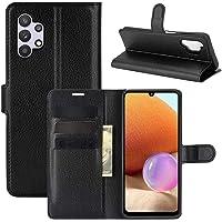 Capa Capinha Carteira De Couro Preta Para Galaxy A32 4G com Tela de 6.4 Polegadas Flip Magnética com Suporte e Slot para…