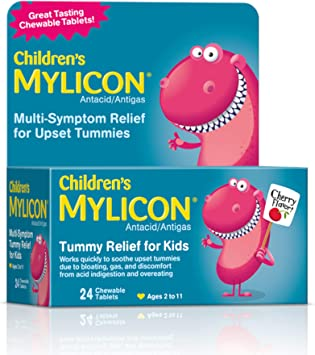 Amazon Com Mylicon Children S Antacid Tummy Relief Tablets For Kids Cherry 24 Count 01055 Health Personal Care