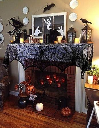 Amazon Lace Cobweb Mantel Scarf Halloween Decoration Fireplace