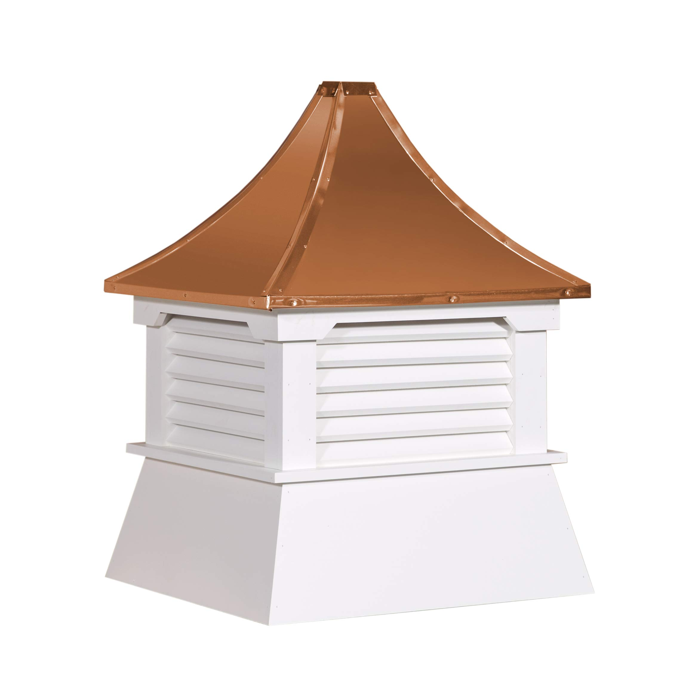 Cupola 21'' Vinyl Cupola with Vents Copper Metal Pagoda Roof Shed Cupola
