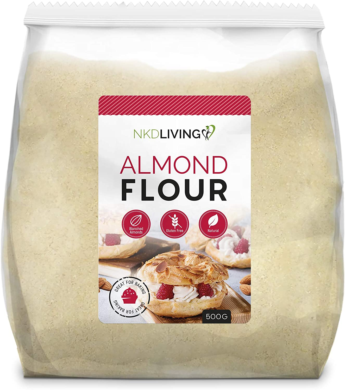 Almond Flour by NKD Living (500g) Finely Ground Almonds from Spain:  Amazon.co.uk: Grocery