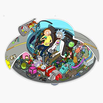 Rick /& Morty Space Ship Spaceship Sticker Decal Stickers Decals