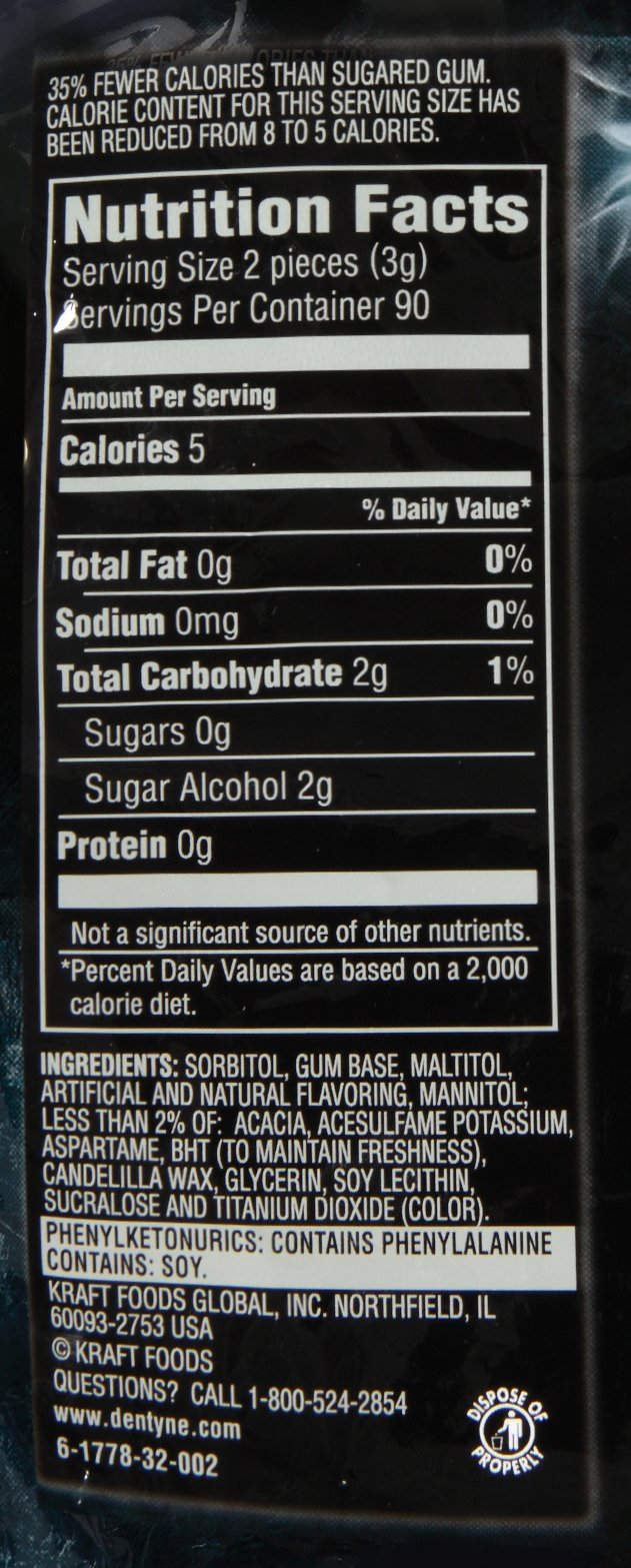 Dentyne Ice Gum, Arctic Chill, 180-Count, 8.92 oz by Dentyne