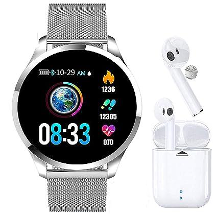 Smartwatch, Reloj Inteligente Mujer Hombre Pulsera de Actividad Inteligente Impermeable IP68 Pulsómetros Podómetro Monitor de para Sueño Calorías, ...