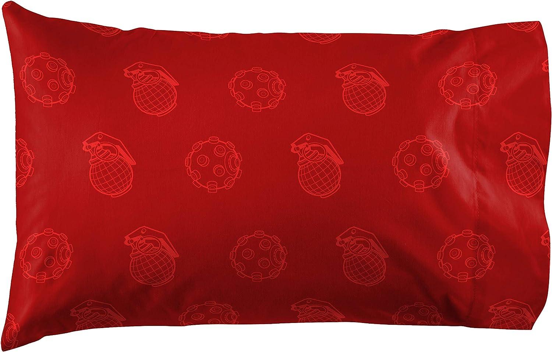 Double-Sided Kids Super Soft Bedding Jay Franco Fortnite Tonal Logo Red Variant 1 Single Pillowcase Official Fortnite Product