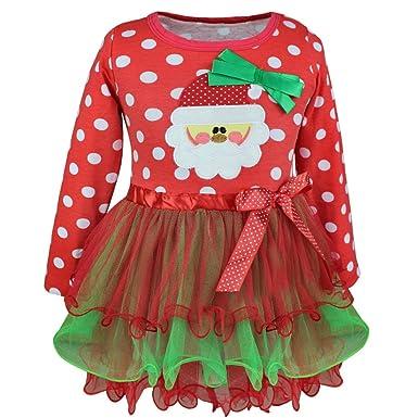 dPois Vestido Niña Bebé Navidad Fiesta Disfraz Papá Noel ...