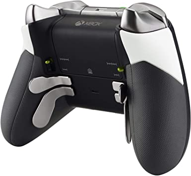 eXtremeRate Agarre de Goma para Xbox One Elite Carcasa Exterior de Grip Empuñadura Antideslizante Grip Tacto Suave Mango de reemplazo Kit para Mando de Xbox One Elite Modelo 1698(Blanco): Amazon.es: Electrónica