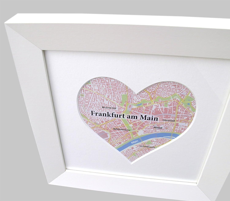 Amazon.de: Bilderrahmen Herz, Rahmen mit Herz-Passepartout ...
