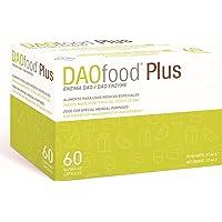 DAOfood Plus - Kosthantering av DAO-Brist - 60 EFICAPS-Kapslar med Magresistenta Tabletter - DAO-Enzym, Quercetin och C…