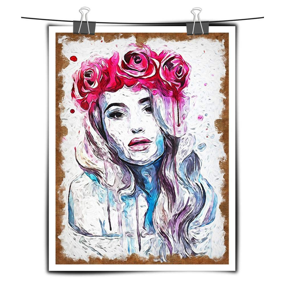 Modern Abstract Wall Lively Music Girl Art Decor Oil Photo Print Painting Canvas