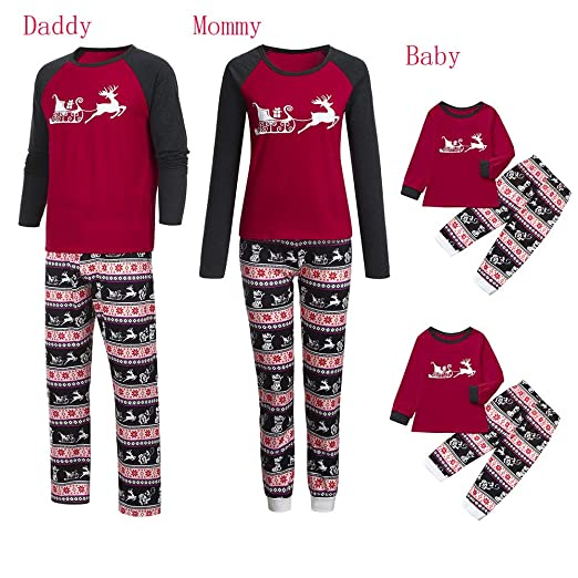 Image Unavailable. Image not available for. Color  Tronet Christmas Family  Pajamas Matching Women Mommy Cartoon Blouse Pants Family Pajamas Sleepwear  ... f530b96d2