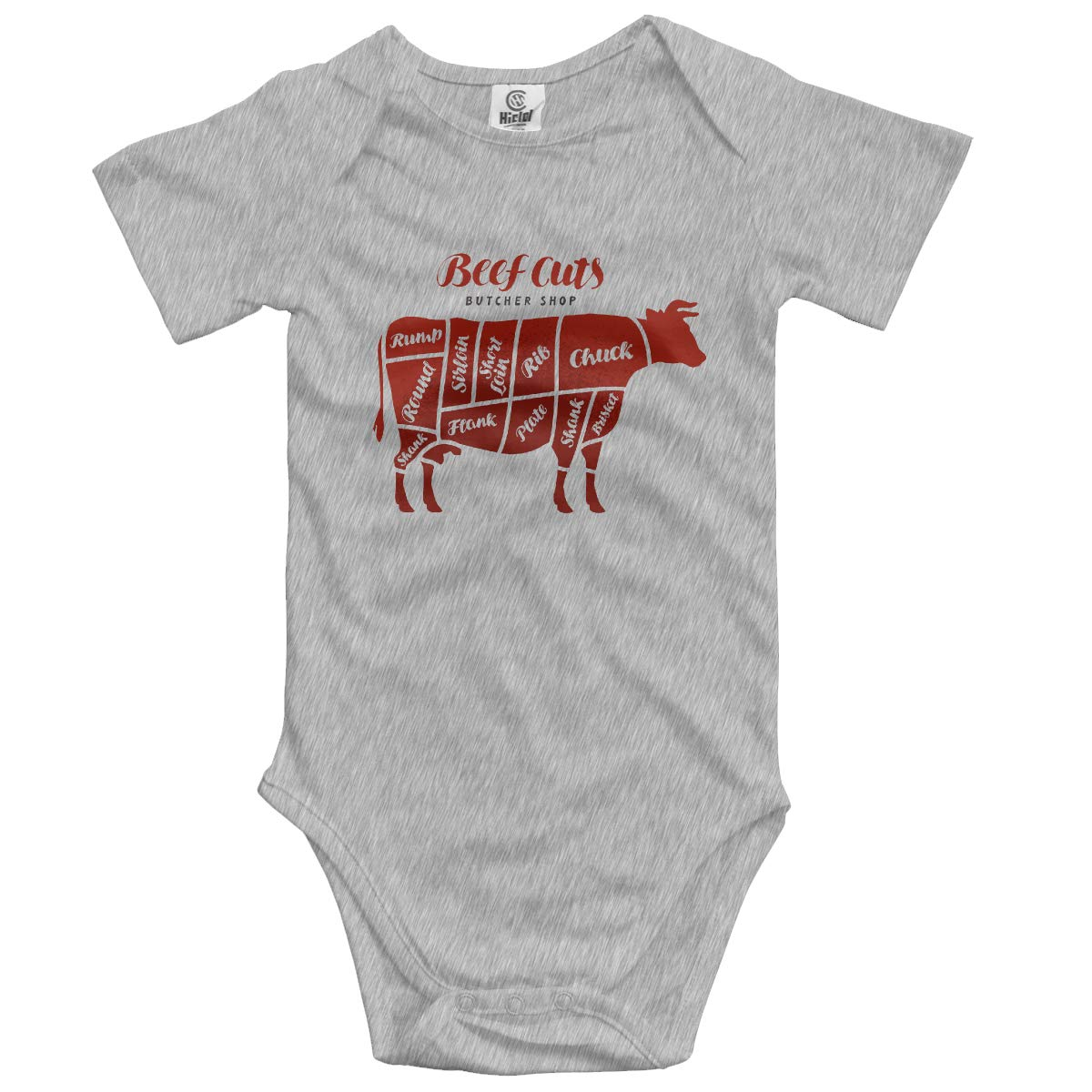 VANMASS Little Babys Beef Cuts Animal Silhouette Cow Short Sleeve Climbing Bodysuits Baby Playsuit