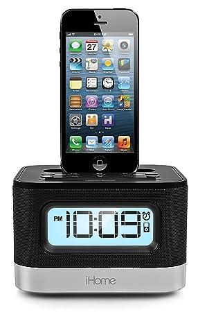 iHome iPL10 Reloj Negro - Radio (Reloj, FM, LCD, iPhone,iPod, Negro, Digital): Amazon.es: Electrónica