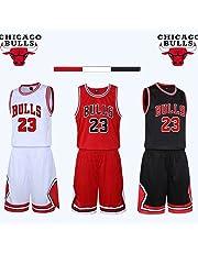 unbrand Ragazzi Uomo NBA Michael Jordan   23 Chicago Bulls Retro  Pantaloncini da Basket Summer Jerseys 665e73b13586