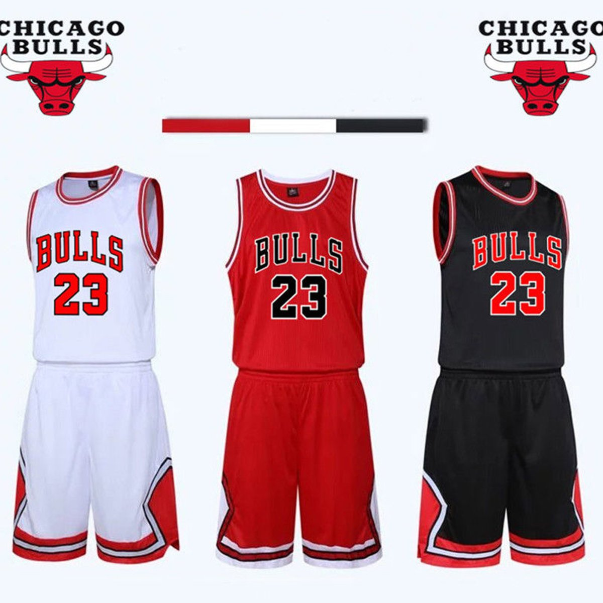 Kid Boy Mens NBA Michael Jordan  23 Chicago Bulls RETRO Basketball shorts  Summer Jerseys Basketball Uniform Top Short  Amazon.co.uk  Sports   Outdoors 87b13b898