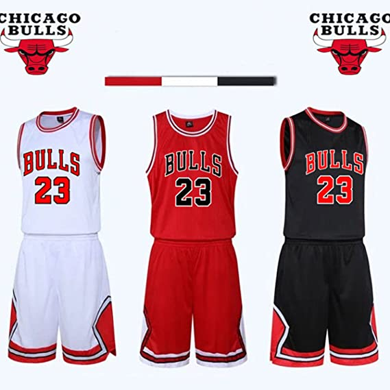 Kid Boy Mens NBA Michael Jordan 23 Chicago Bulls RETRO Basketball shorts  Summer Jerseys Basketball Uniform TopShort Amazon.co.uk Sports  Outdoors