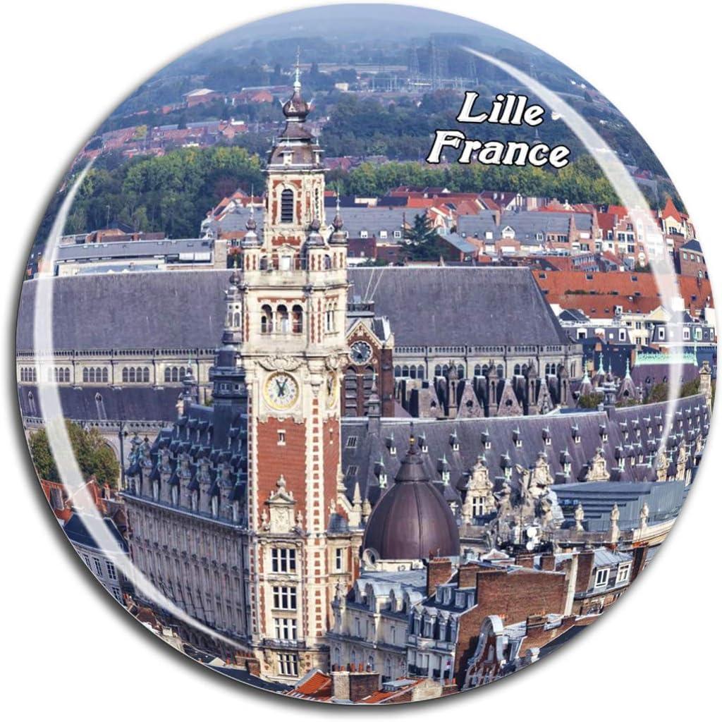 Aimant de r/éfrig/érateur Motif horizon de la ville de Lyon