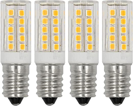 6 Pack LED CANDELABRA base small WARM WHITE Feit 40W Equivalent 5W Light Bulbs