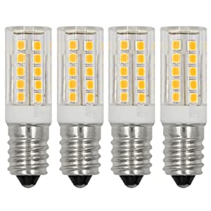 E12 LED Light Bulbs C7 Bulb 5W Daylight White 6000K 110V 120V Candelabra Bulb E12 Base 40W Incandescent Bulbs Equivalent (4-Pack)