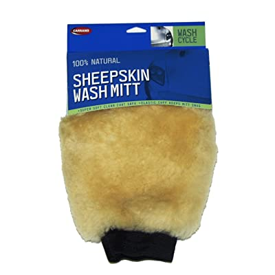 Carrand 40305 Champagne Sheepskin Wash Mitt: Automotive