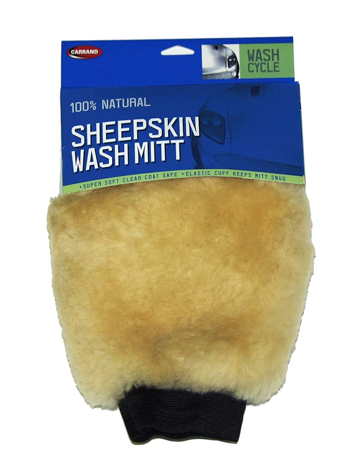Carrand 40305 Champagne Sheepskin Wash Mitt