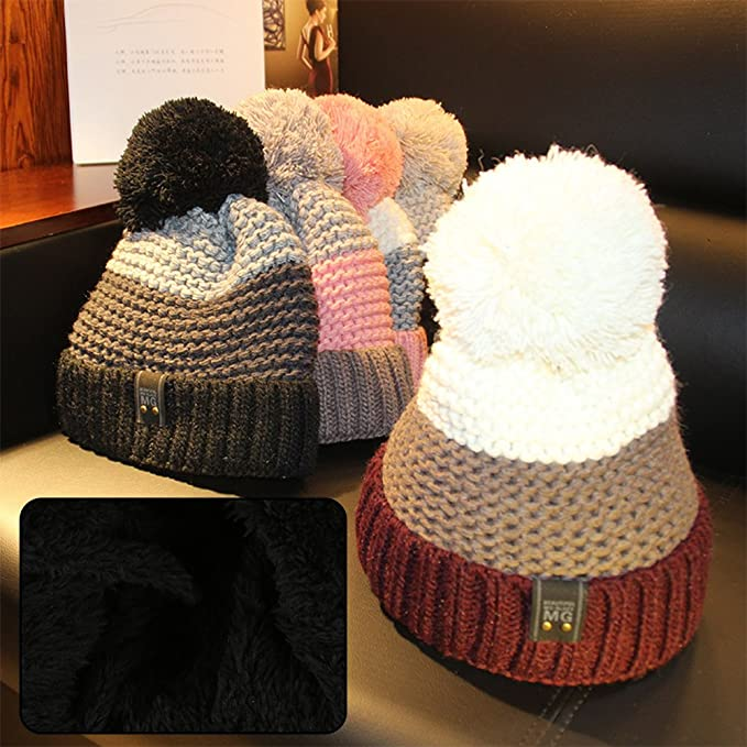 57d7992fb98 Fantastic Zone Women Warm Winter Hat Chunky Soft Oversized Cable Knit  Slouchy Beanie Ski Baggy Hat at Amazon Women s Clothing store