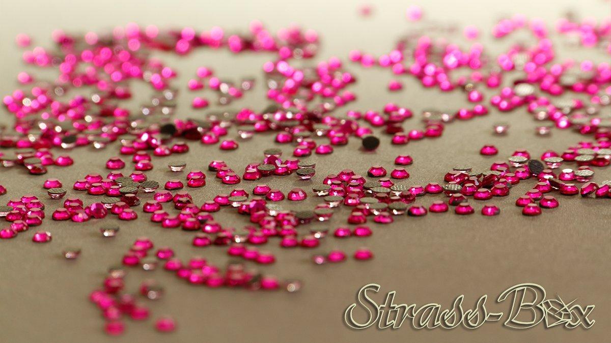 1.000 Strass Hotfix 2Cut SS10 Hot Fashion Pink 500-50.000 Cantidad a elegir