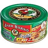 Ayam Brand Chilli Tuna Light | Wild Caught Premium Tuna | Reduced Fat | Protein, Omega 3, Vitamin E, B6 & B12 | Halal & Healthier Choice | No Preservatives or Additives | Serves 4 - 160g