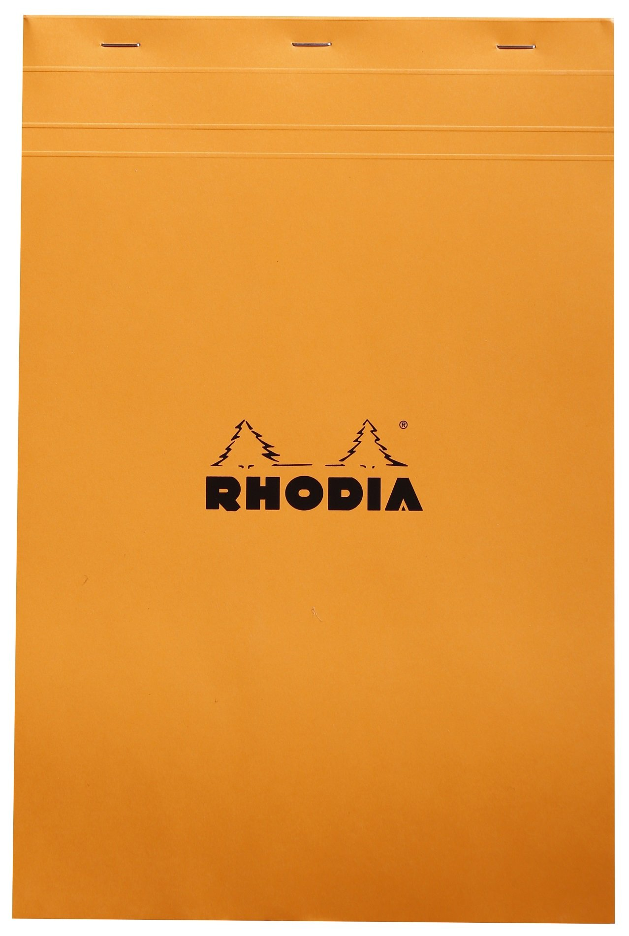Rhodia Staplebound Notepads - Graph 80 sheets - 8 1/4 x 12 1/2 in. - Orange cover