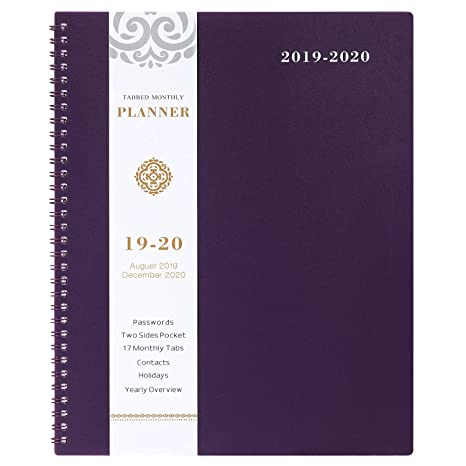 Amazon.com : 2019-2020 Monthly Planner - 17-Month Planner ...