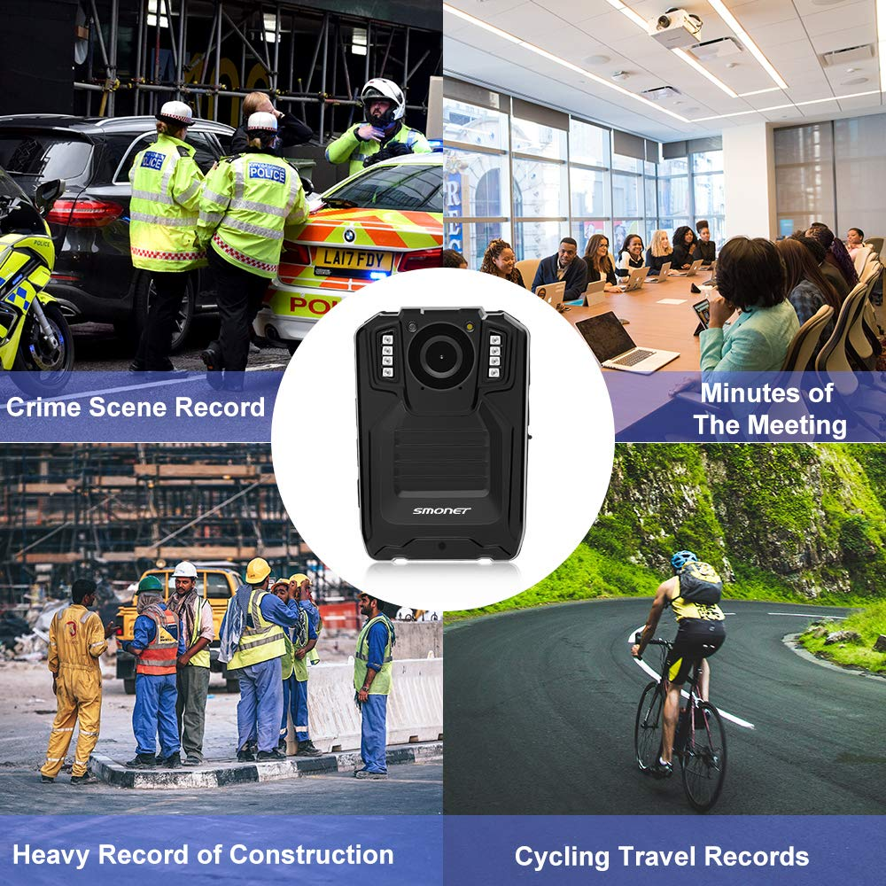 SMONET 【2019 New】 Body Camera with Audio, HD Multifunctional Police Body Cameras for Law Enforcement,Security Guard,Waterproof Body Worn Camera with Night Vision,2 Inch Display Video,Wide Angle(32GB) by SMONET (Image #3)