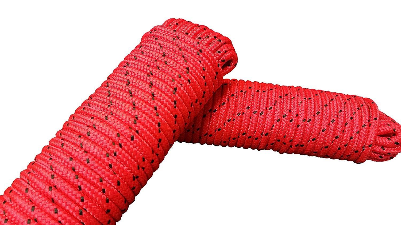 Corde polypropylè ne 8 mm x 20 m vert/blanc ensemble de deux piè ces - Laisse amarrage, cordes polypropylene corde multifonctionnelle, charge de rupture: 700 Kg charge de rupture : 700 Kg JBR Service
