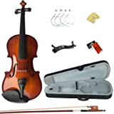 Esound 3/4 MB2 Solid Wood Satin Antique Violin with Hard Case