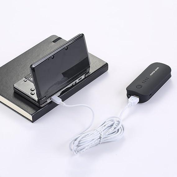 EXLENE Nintendo 3DS USB Cable Cargador de la Energía Juega Mientras se Carga para Nintendo 3DS, 3DS XL, 2DS, 2DS XL LL, DSi, DSi XL - 3m/10ft (Blanco)