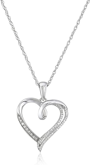 Sterling Silver Necklace with a Heart Pendant; Sterling Silver Necklace for Women; Delicate necklace with Heart Pendant