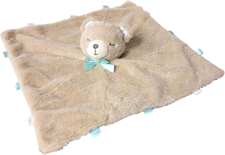 Baby Bear Star Huggy Blanket  Lovey Blankey  baby shower gift  unique design vegan friendly