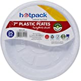 Hotpack Disposable Plates, 25 Pieces