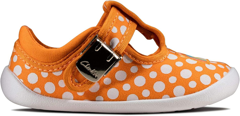 Clarks Roamer Sun T, Sneakers Basses Fille Orange Orange Combi Orange Combi