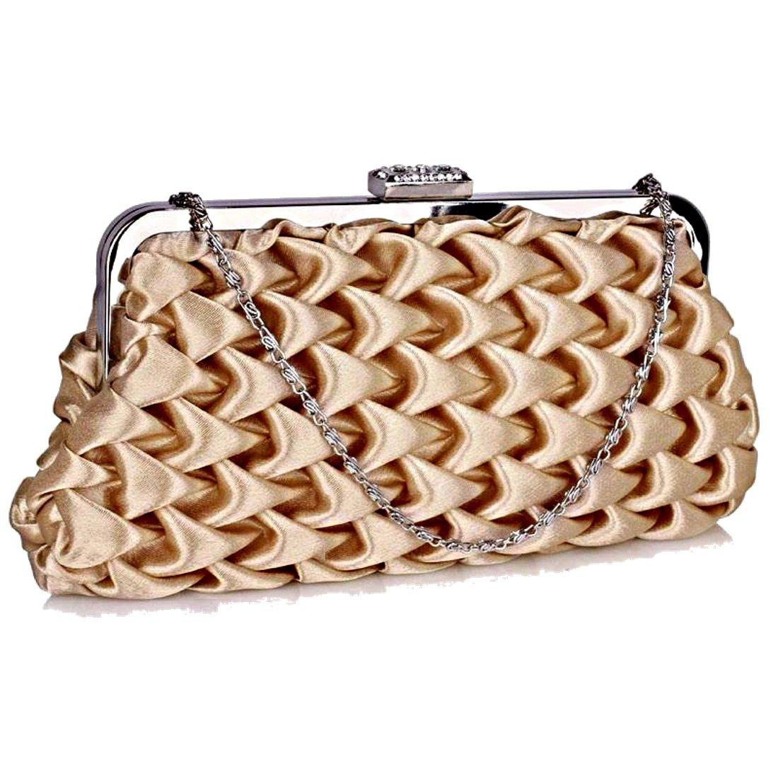 7d0e0677de8 Stunning Nude / Cream Wave Folds Style Evening Clutch Bag | ON SALE ...