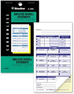 how to write in payroll book blueline