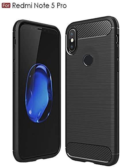 hot sale online cdbcd ae4f7 CEDO Rugged Armor TPU Military Grade Shock Proof Back Cover Case for Xiaomi  Redmi Note 5 Pro (Black)