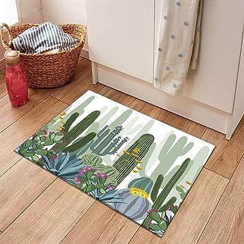 Desert Cactus Non-slip Soft Bathroom Bath Rugs Carpet Door Mat Polyester 40*60cm