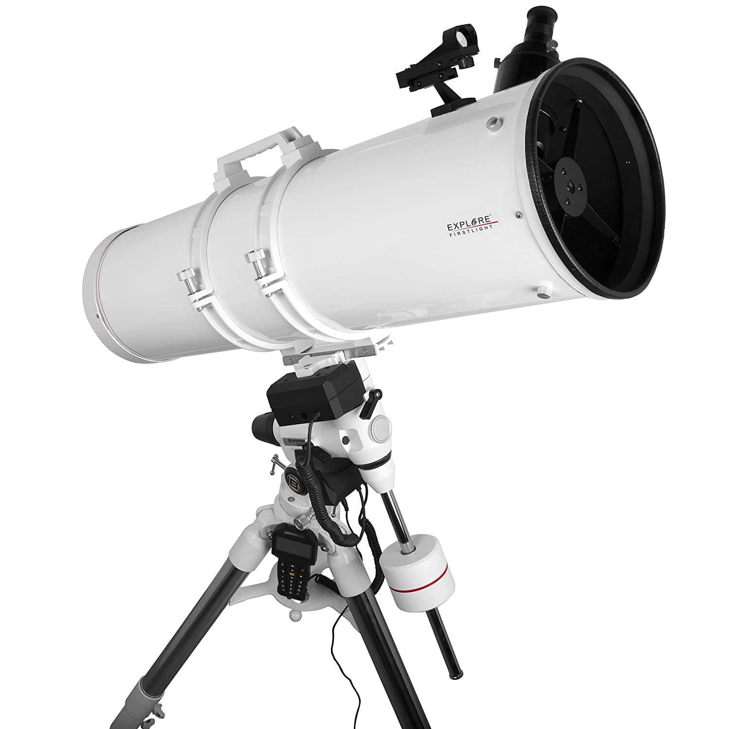 Explore Scientific fl-n2031000exos2gt Newtonian Telescope with exos-2マウントwith GoTo、203 mm、ホワイト   B0743HMDK4