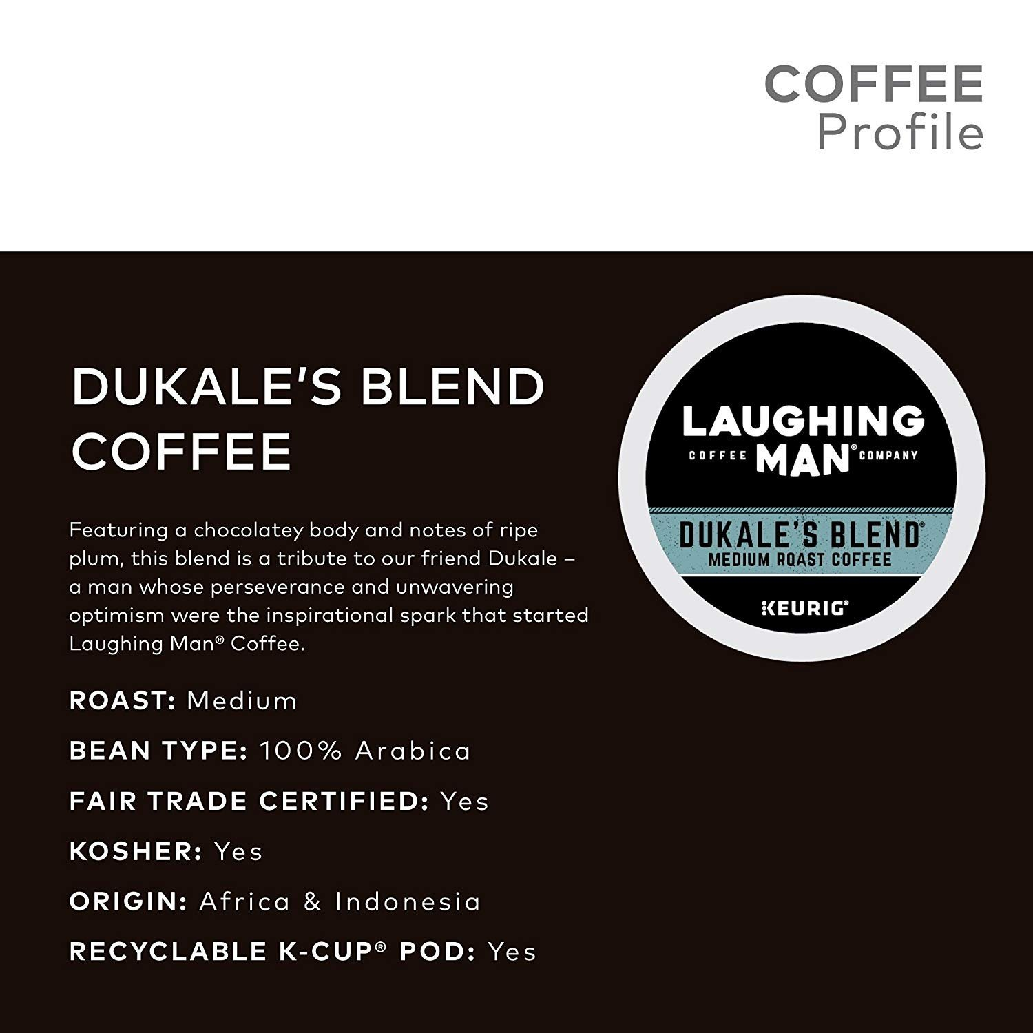 Laughing Man Dukale's Blend Coffee Keurig K-Cups, 96 Count by Laughing Man (Image #5)